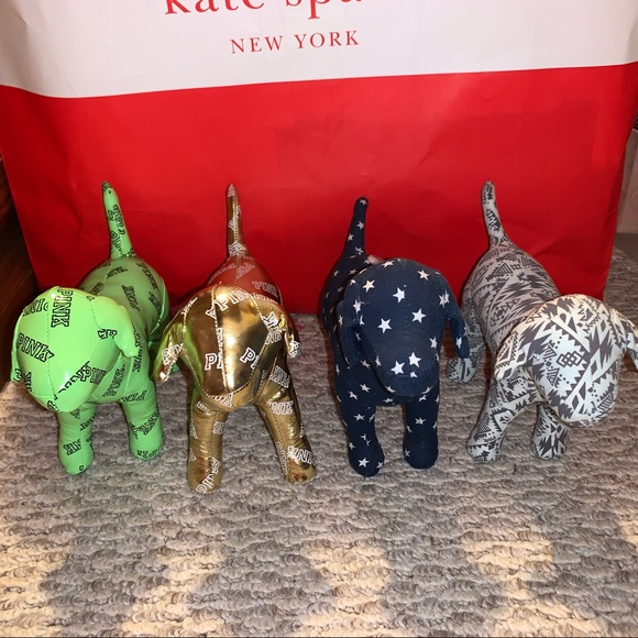 4 PINK Mini Dogs - Good Condition